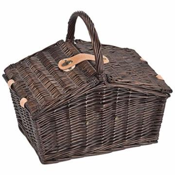 Picknickkorb Picknickkoffer Koffer Tasche Picknick gefüllt für 2 Personen mit Kühltasche (Kühlfach)- 337 - 2