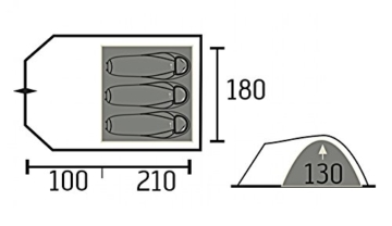 Portal POR2918-4260182766675 Tent, Grau, 3 - 9