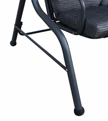 Pure Home & Garden 3-Sitzer XXL Hollywoodschaukel Swing, wetterfeste Outdoor Polsterung - 4