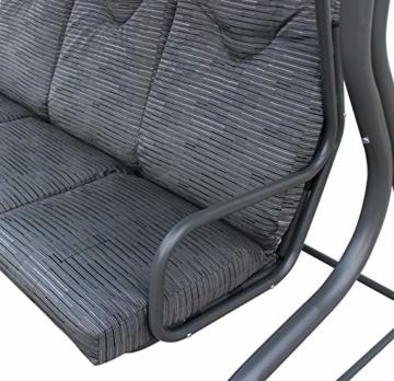 Pure Home & Garden 3-Sitzer XXL Hollywoodschaukel Swing, wetterfeste Outdoor Polsterung - 5