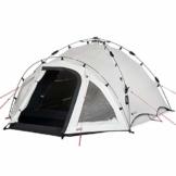 Qeedo Quick Oak 3 Personen Campingzelt, Sekundenzelt, Quick-Up-System, Dark Series (innen nachtschwarz) - 1