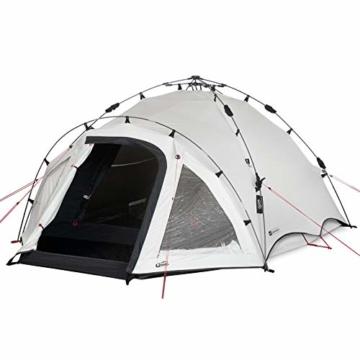 Qeedo Quick Oak 3 Personen Campingzelt, Sekundenzelt, Quick-Up-System, Dark Series (innen nachtschwarz) - 8