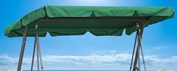 QUICK STAR Ersatzdach Gartenschaukel Universal PASSEND von 110x170cm bis 145x200cm Hollywoodschaukel 3 Sitzer UV 50 Ersatz Bezug Sonnendach Schaukel Grün - 1