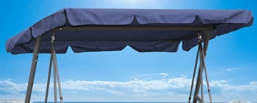 QUICK STAR Ersatzdach Gartenschaukel Universal PASSEND von 110x170cm bis 145x200cm Hollywoodschaukel 3 Sitzer UV 50 Ersatz Bezug Sonnendach Schaukel Blau - 1