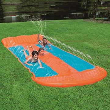 Riesige Kinder wasserrutsche mit Sprinkler für den Garten, Drei-Personen-Wasserrutschen matte Große und lange aufblasbare Sommerspray-Spielzeugrutsche und Rutschmatte für Jungen Mädchen im Freien - 1