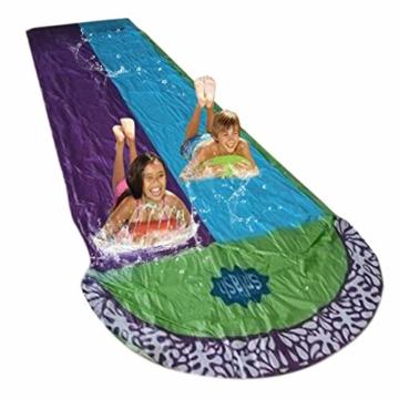 Rutschen und Rutschen Wasserpool Kinder Aufblasbare Kinderrutschen für Erwachsene Erwachsene-Kinder Wasserrutsche Gartenrennen Doppel Wasserrutsche Spray Sommerspielzeug für den Außenbereich - 1