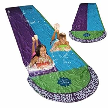 Rutschen und Rutschen Wasserpool Kinder Aufblasbare Kinderrutschen für Erwachsene Erwachsene-Kinder Wasserrutsche Gartenrennen Doppel Wasserrutsche Spray Sommerspielzeug für den Außenbereich - 5