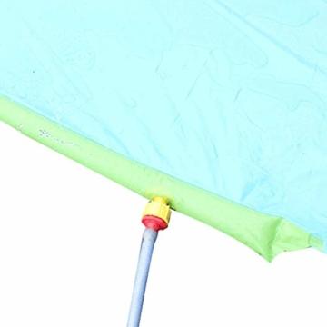 Rutschen und Rutschen Wasserpool Kinder Aufblasbare Kinderrutschen für Erwachsene Erwachsene-Kinder Wasserrutsche Gartenrennen Doppel Wasserrutsche Spray Sommerspielzeug für den Außenbereich - 6