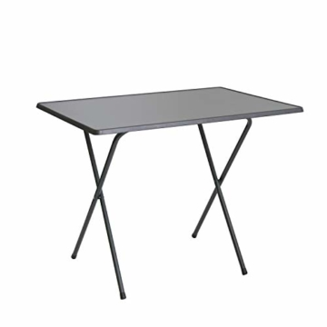 Scherentisch anthrazit klappbar als Campingtisch, Gartentisch ca. 60 x 80 x 64 cm anthrazit - witterungsbeständige Klapptisch als Beistelltisch - 1