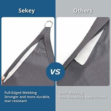 Sekey Sonnensegel Sonnenschutz Polyester Windschutz Wetterschutz Wasserabweisend Imprägniert 95% UV Schutz für Garten Outdoor Terrasse Camping Party mit Seilen, 2×3m Anthrazit - 2