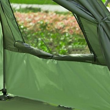 SoBuy OGS32-L-GR Feldbett 4in1-Zelt mit Campingliege Schlafsack Luftmatratze und Zubehör Campingzelt 2 Personen - 7