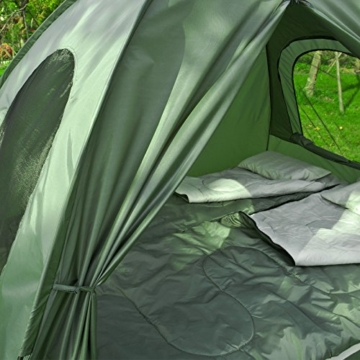 SoBuy OGS32-L-GR Feldbett 4in1-Zelt mit Campingliege Schlafsack Luftmatratze und Zubehör Campingzelt 2 Personen - 8