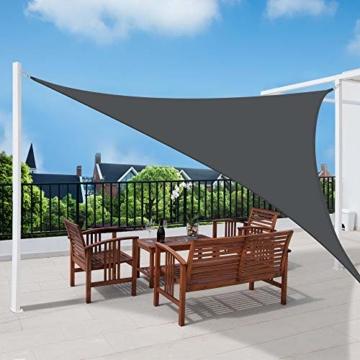 Sol Royal SolVision PS9 - Sonnensegel dreieckig 300x300x300 cm PES Wasserabweisend - Anthrazit - Sonnenschutz UV Schutz - 7