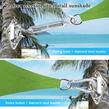 Sonnensegel Befestigung, TedGem 2 Spannschloss Edelstahl 2 Karabiner 4 Wandhalterung Sonnensegel Zubehör zur sicheren Montage von viereckigen und dreieckigen - 3