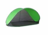 Strandmuschel Pop Up Strandzelt Grau + Grün Polyester blitzschneller Aufbau Wetter- und Sichtschutz Duhome 5062 - 1