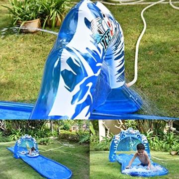 SYH 16ft Kinder aufblasbare Wasserrutsche mit Bögen, mehr Wasser Outlets, erhältlich auf flachem Boden, für Ihre Hände Befreiende und Verbrauchen Kinder Energie - 2
