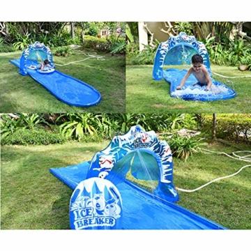 SYH 16ft Kinder aufblasbare Wasserrutsche mit Bögen, mehr Wasser Outlets, erhältlich auf flachem Boden, für Ihre Hände Befreiende und Verbrauchen Kinder Energie - 3