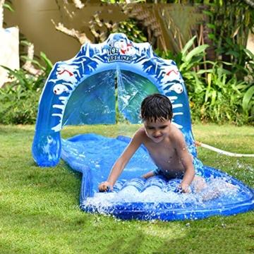 SYH 16ft Kinder aufblasbare Wasserrutsche mit Bögen, mehr Wasser Outlets, erhältlich auf flachem Boden, für Ihre Hände Befreiende und Verbrauchen Kinder Energie - 4
