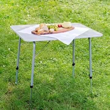 TecTake Campingtisch Gartentisch klappbar höhenverstellbar (LxBxH): ca. 80 x 60 x 68 cm - 3