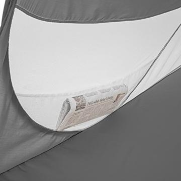 TecTake Pop Up Strandmuschel Wurfzelt 245x145x95 cm mit UV Schutz - Diverse Farben - (Anthrazit | Nr. 401676) - 2