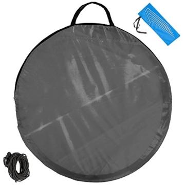 TecTake Pop Up Strandmuschel Wurfzelt 245x145x95 cm mit UV Schutz - Diverse Farben - (Anthrazit | Nr. 401676) - 4