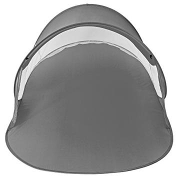 TecTake Pop Up Strandmuschel Wurfzelt 245x145x95 cm mit UV Schutz - Diverse Farben - (Anthrazit | Nr. 401676) - 5