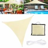TedGem Sonnensegel, Sonnensegel Dreieckig Sonnensegel Wasserdicht, Sonnenschutz Balkon Hergestellt aus hochwertigem Polyester mit UV Schutz, 160 g / m2. für Garten/Balkon/Terrasse (3x3x3M) - 1