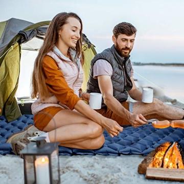 tomight Isomatte Camping, Ultraleichte Isomatte mit Abnehmbares Kissen, 2.16 M Luftmatratze Camping Lang Abschnitt Wasserdicht für Wandern, Backpacking, Camping, Strand - 2