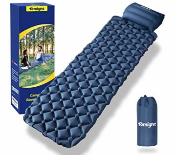 tomight Isomatte Camping, Ultraleichte Isomatte mit Abnehmbares Kissen, 2.16 M Luftmatratze Camping Lang Abschnitt Wasserdicht für Wandern, Backpacking, Camping, Strand - 9