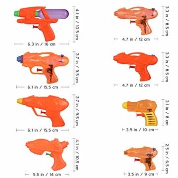 Toyvian Squirt Guns Party Pack,Verschiedene Wasserpistolen Kinder Sommer Schwimmbad Strand Toy Water Squirt Wasser Kampfspielzeug (24 Pack) - 4