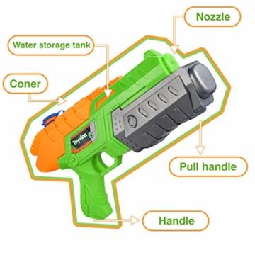 Toyvian Super Soaker Wasserpistolen, Water Soaker Blaster 160CC mit hoher Kapazität und Over 35 Fuß Schießstand, Wasserspiele im Freien Spritzspielzeug für Kinder Erwachsene - 4