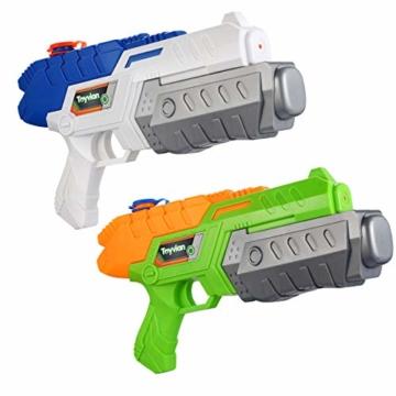 Toyvian Super Soaker Wasserpistolen, Water Soaker Blaster 160CC mit hoher Kapazität und Over 35 Fuß Schießstand, Wasserspiele im Freien Spritzspielzeug für Kinder Erwachsene - 1