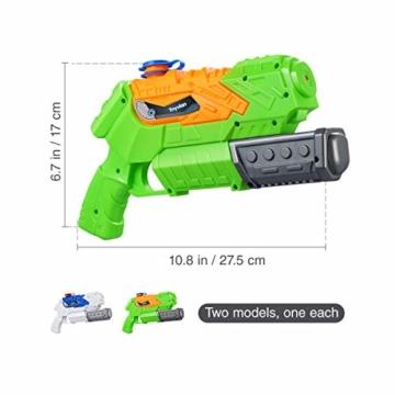Toyvian Super Soaker Wasserpistolen, Water Soaker Blaster 160CC mit hoher Kapazität und Over 35 Fuß Schießstand, Wasserspiele im Freien Spritzspielzeug für Kinder Erwachsene - 5