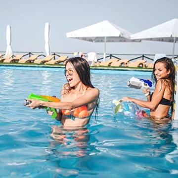 Toyvian Super Soaker Wasserpistolen, Water Soaker Blaster 160CC mit hoher Kapazität und Over 35 Fuß Schießstand, Wasserspiele im Freien Spritzspielzeug für Kinder Erwachsene - 6