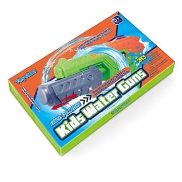 Toyvian Super Soaker Wasserpistolen, Water Soaker Blaster 160CC mit hoher Kapazität und Over 35 Fuß Schießstand, Wasserspiele im Freien Spritzspielzeug für Kinder Erwachsene - 7