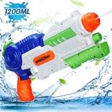 Ucradle Wasserpistole Spielzeug, 1200ML Wasserpistolen groß mit 8-10 Meter Reichweite für Kinder und Erwachsene, Water Gun Water Blaster für Sommerpartys, Strand, Pool, Garten Strandspielzeug - 1