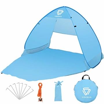 Vigorun Strandmuschel, Tragbares Pop up Strandzelt UV Schutz 50+ Automatisches Öffnungs Zelt für Strand, Garten, Camping, Angeln - 1