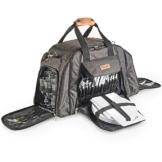 VonShef Graue Deluxe Picknick-Tasche mit hochwertiger Oberfläche für 6 Personen – Enthält 41-teiliges Essgeschirr & Kühlfach - 1