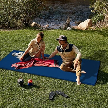 wolketon Selbstaufblasende Isomatte Ultraleichter Camping Isomatte Wasserdicht Aufblasbare Luftmatratze Klein für Outdoor,Camping, Reise 190 * 60 * 3CM Grau - 2
