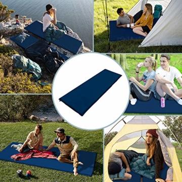 wolketon Selbstaufblasende Isomatte Ultraleichter Camping Isomatte Wasserdicht Aufblasbare Luftmatratze Klein für Outdoor,Camping, Reise 190 * 60 * 3CM Grau - 6