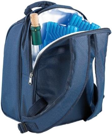 Xcase Thermorucksack: Thermo-Picknick-Rucksack mit Kühlfach, bestückt für 2 Personen (Picknickrucksack mit Kühlfach) - 2
