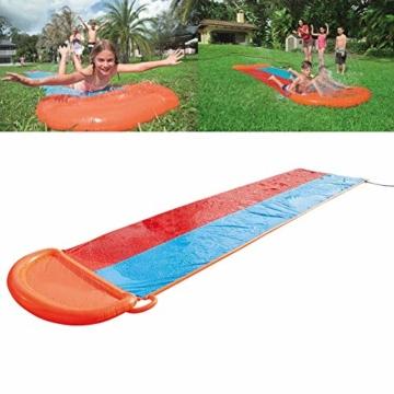 Zihui 5,5 M Wasserrutsche Mit Doppelschieber Aufblasbare Wasserrutsche Mit Dicker Rutsche Und Rutsche Sommerwasserrutschen Für Den Garten Spritzer-Sprint-Wasserrutsche - 3