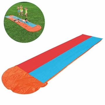 Zihui 5,5 M Wasserrutsche Mit Doppelschieber Aufblasbare Wasserrutsche Mit Dicker Rutsche Und Rutsche Sommerwasserrutschen Für Den Garten Spritzer-Sprint-Wasserrutsche - 6
