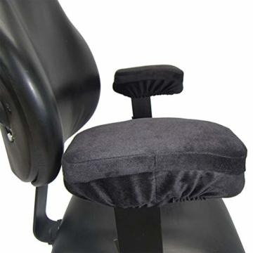 2 Stück Armlehnen Polster für Bürostuhl und Spielstuhl, Memory Schaum Arbeitsplatz Schreibtischstuhl Armlehnen Kissen für Ellenbogen Komfort , Armlehne für Ellbogen und Unterarmen Druckentlastung - 3