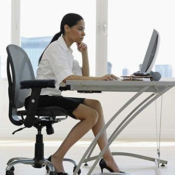 2 Stück Armlehnen Polster für Bürostuhl und Spielstuhl, Memory Schaum Arbeitsplatz Schreibtischstuhl Armlehnen Kissen für Ellenbogen Komfort , Armlehne für Ellbogen und Unterarmen Druckentlastung - 6