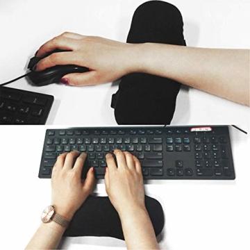 2 Stück Armlehnen Polster für Bürostuhl und Spielstuhl, Memory Schaum Arbeitsplatz Schreibtischstuhl Armlehnen Kissen für Ellenbogen Komfort , Armlehne für Ellbogen und Unterarmen Druckentlastung - 8