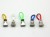 20 Stück mai® Handtuch-Clips mit Schlaufe - farbig - 1