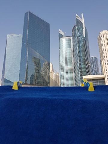 4 Stück Tuuli Beach Towel Clips - Hochwertige Strandtuchklammern im Premium Design (Sharky Türkis/Delphin Blau) - 3