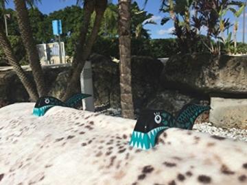 4 Stück Tuuli Beach Towel Clips - Hochwertige Strandtuchklammern im Premium Design (Sharky Türkis/Delphin Blau) - 7