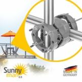 4smile Sonnenschirmhalter Balkongeländer – Sunnyman 2.0, der Alleskönner – Platzsparender und universeller Balkon Schirmhalter für alle Geländer und Sonnenschirme – Made in Germany - 1